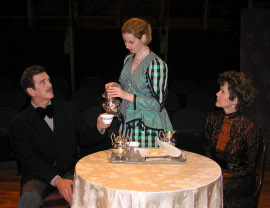 Tom Naab, Molly McLaughlin, and Rebecca May in Angel Street