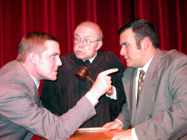 John Hannon, Michael Kennedy, and Dan Hernandez in Inherit the Wind