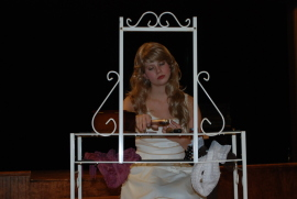 Maggie Woolley as Portia in The Merchant of Venice