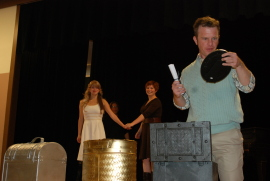 Maggie Woolley, Matt Moody, Jaci Entwisle, and J.C. Luxton in The Merchant of Venice