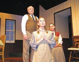 Greg Bouljon, Sydney Crumbleholme, and Karen Decker in Anne of Green Gables