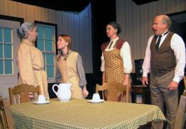 Marie Tschopp, Sydney Crumbleholme, Karen Decker, and Greg Bouljon in Anne of Green Gables
