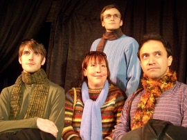 Tyson Danner, Jackie Madunic, James Bleecker, and Jason Platt in Perestroika