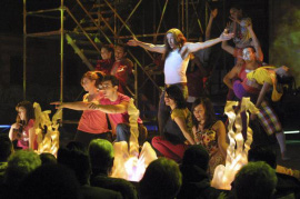 Steve Coogan and cast in Hamlet 2