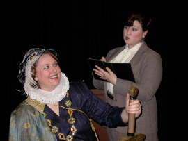Katie McCormack and Emily Kurash in Lettice and Lovage