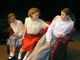Bennett Stewart, Anna Tunnicliff, and Kylie Jansen in The Children's Hour