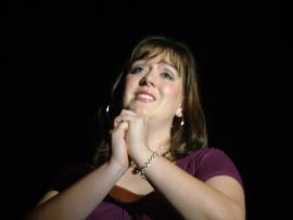 Nicole Horton in the Clinton Area Showboat Theatre's The Last Five Years