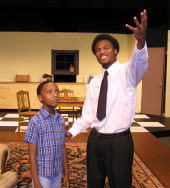 Xavier Marshall and Curtis Lewis in A Raisin in the Sun