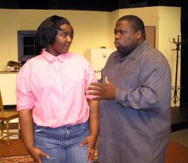 Alysha McElroy-Hodges and Amos Lumumba Johnson, Sr. in A Raisin in the Sun