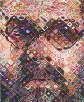 Chuck Close's Self-Portrait/Woodcut, 2002