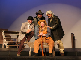 John Wagner, Wayne Hess, Sheri Hess, and Jim Seward in Annie Get Your Gun