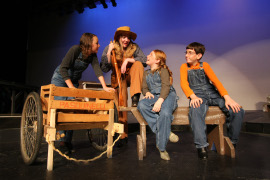 Sarah Wilson, Sheri Hess, Haley Wolf, and Caleb Wagner in Annie Get Your Gun