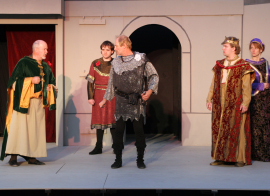 Scott Tunnicliff, Doug Adkins, Bob Hanske, Andy Curtiss, and TeAnna Mirfield in Henry the Sixth: Richard, Duke of York