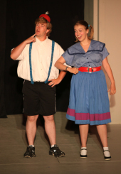 Andy Curtiss and Grace Pheiffer in Thesmophoriazusae