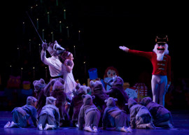 a scene from Ballet Quad Cities' 2008 production of The Nutcracker