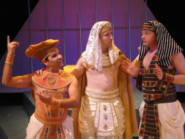 Joseph J. Baez, Don Denton, and Tristan Tapscott in Joseph and the Amazing Technicolor Dreamcoat