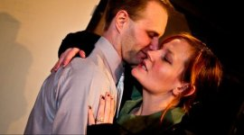 Jonathan Grafft and Jessica Flood in Who's Afraid of Virginia Woolf?