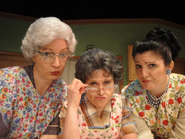 Licia Watson, Nicole Savitt, and Nancy O'Bryan in Church Basement Ladies 2: A Second Helping