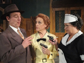 Tom Walljasper, Carrie Sa Loutos, and Autumn O'Ryan in Whodunit... the Musical
