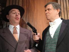Tom Walljasper and Frank McClain in Whodunit... the Musical