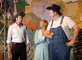 James Daniel Pepper, Heather Herkelman, and Matt Mercer in Oklahoma!