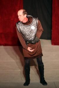 Michael King as Richard III in 2009's King Henry VI: Richard, Duke of York
