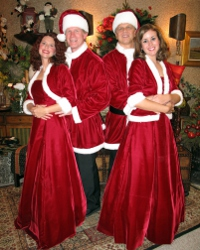 Stephanie Perry, Mike Millar, Kevin Pieper, and Jennifer Sondgeroth in Irving Berlin's White Christmas
