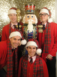 Don Denton, Marty McNamee, Danny White, and Scott Stratton in Plaid Tidings