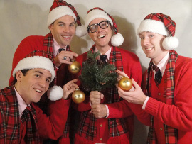 Danny White, Marty McNamee, Scott Stratton, and Don Denton in Plaid Tidings