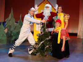 Bret Churchill, Janos Horvath, Laura Miller, and Andrea Moore in Jack Frost Saves Christmas