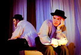 Matt Mercer and David Turley in Waiting for Godot