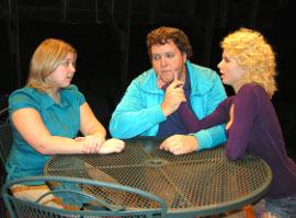 Cara DeMarlie, Matt Mercer, and Maggie Woolley in The Shape of Things