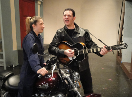 Jennifer Weingarten and Michael Karraker in All Shook Up