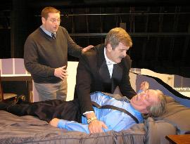 Christopher Tracy, Tom Naab, and John vanDeWoestyne in Lend Me a Tenor