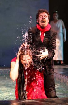 Samantha Bestvina and Neil Friberg (foreground) and Robin Quinn (background) in Metamorphoses