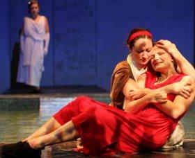 Jacquelyn Schmidt and Samantha Bestvina (foreground) in Metamorphoses
