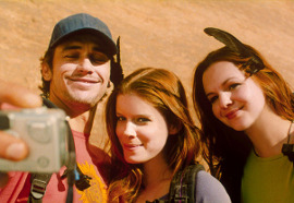 James Franco, Kate Mara, and Amber Tamblyn in 127 Hours