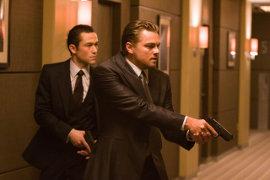 Joseph Gordon-Levitt and Leonardo DiCaprio in Inception