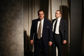 Kevin Grastorf and Paul Workman in Frost/Nixon