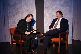 Adam Michael Lewis and Kevin Grastorf in Frost/Nixon