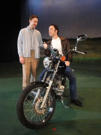Don Denton and Courtney Crouse in Happy Days: A New Musical
