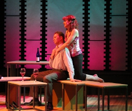Mike Schulz and Erin Churchill in Speed-the-Plow