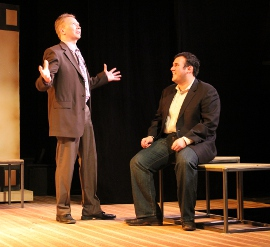 Mike Schulz and Daniel M. Hernandez in Speed-the-Plow