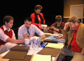 Kevin Maynard, Nicholas Waldbusser, Rosemary Ocar, Mollie A. Schmelzer, and Don Hazen in Don't Talk to the Actors