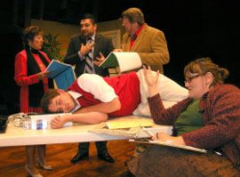Rosemary Ocar, Kevin Maynard, Nicholas Waldbusser, Don Hazen, and Mollie A. Schmelzer in Don't Talk to the Actors