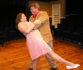 Becky McCorkle and Don Hazen in Don't Talk to the Actors