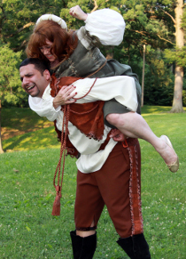 David Cabassa and Angela Rathman in The Taming of the Shrew
