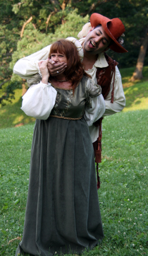Angela Rathman and David Cabassa in The Taming of the Shrew