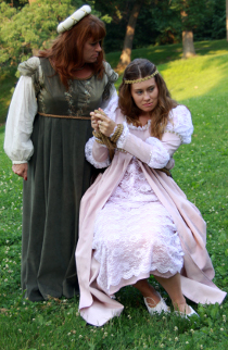 Angela Rathman and Michele Stine in The Taming of the Shrew