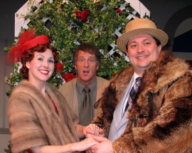 Melissa Anderson Clark, Mark McGinn, and J. Adam Lounsberry in The Drowsy Chaperone